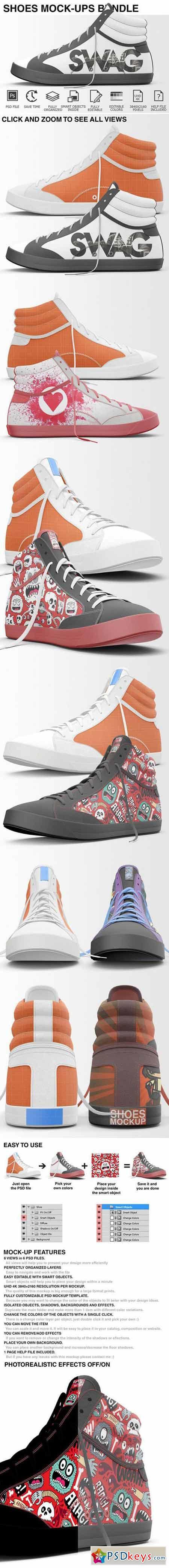 Sneakers Shoes Mockups Bundle 401877