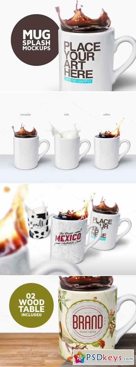 Mug Splash Mockups 413697