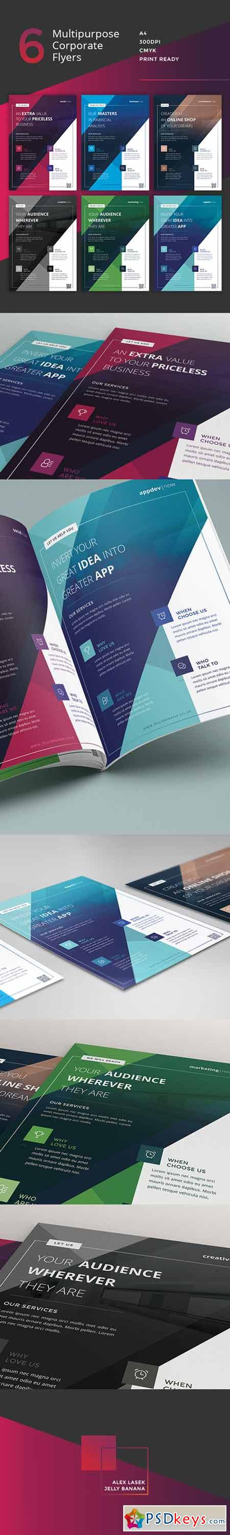 flyer templates page photoshop vector stock 6 multipurpose business flyers ads 379450