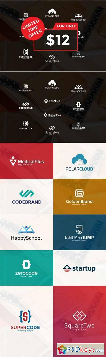 10 Clever Logo Bundle 402402
