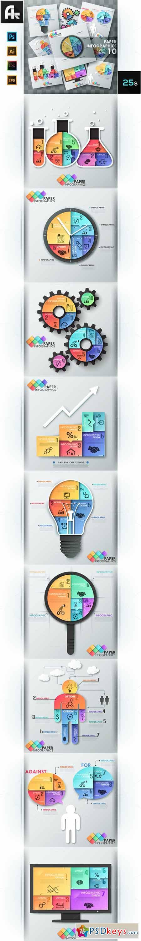 Paper Infographic Templates Bundle 410418
