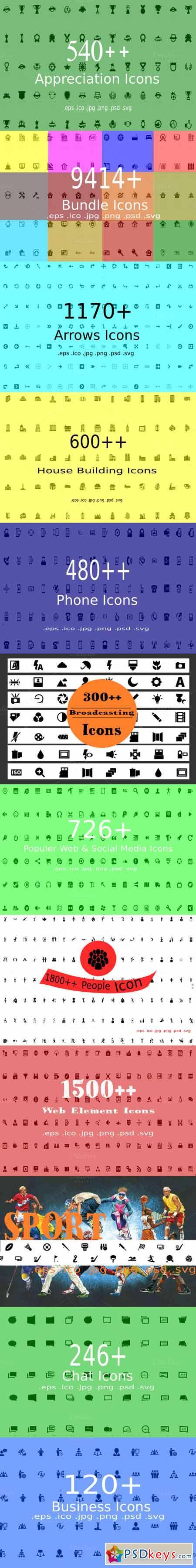 9414+ Bundle Icons 410704