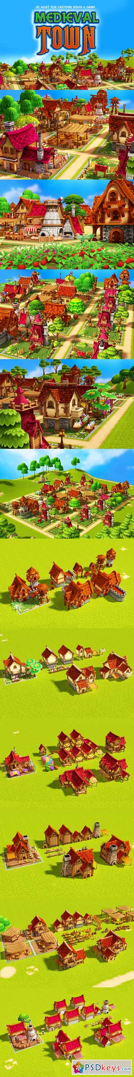 Medieval Town 400203