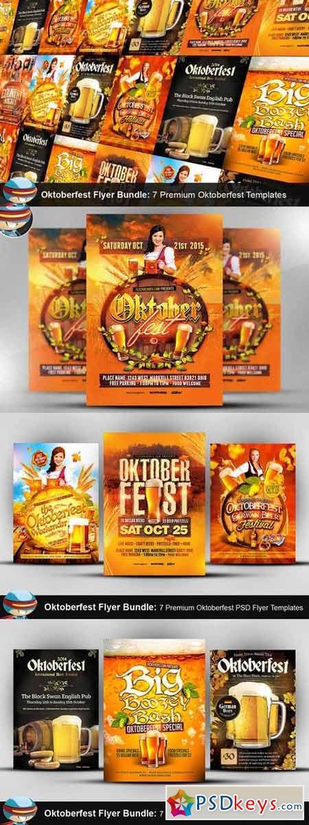 Oktoberfest Flyer Template Bundle 370253