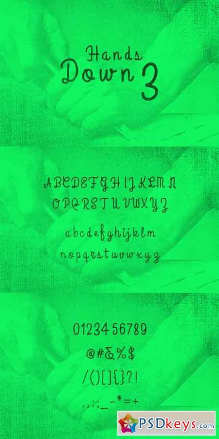 HandsDown3 Typeface 83636