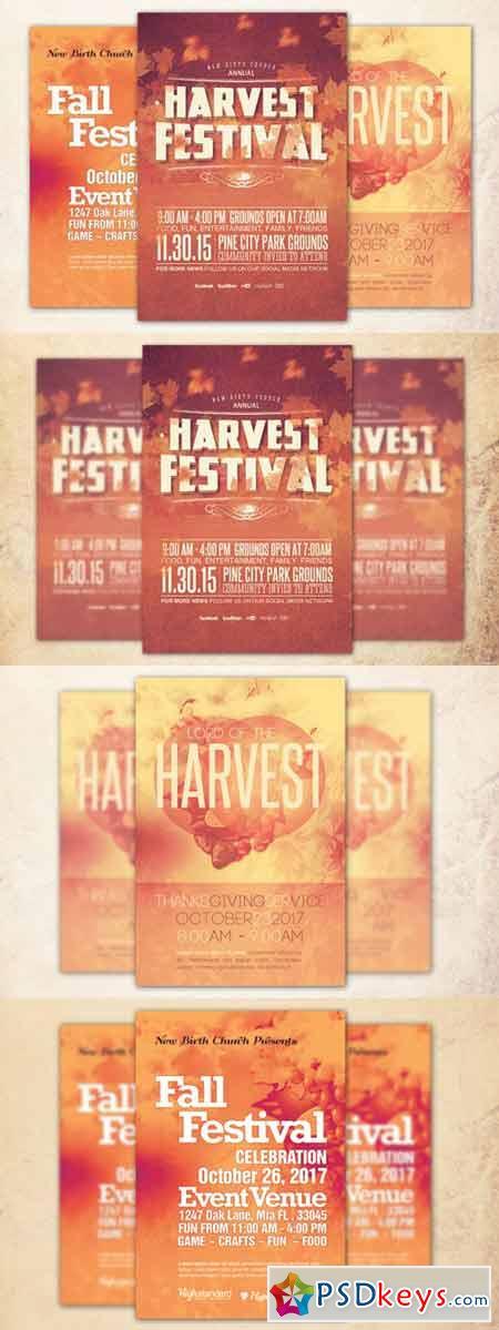Church Harvest Flyer Bundle 375495