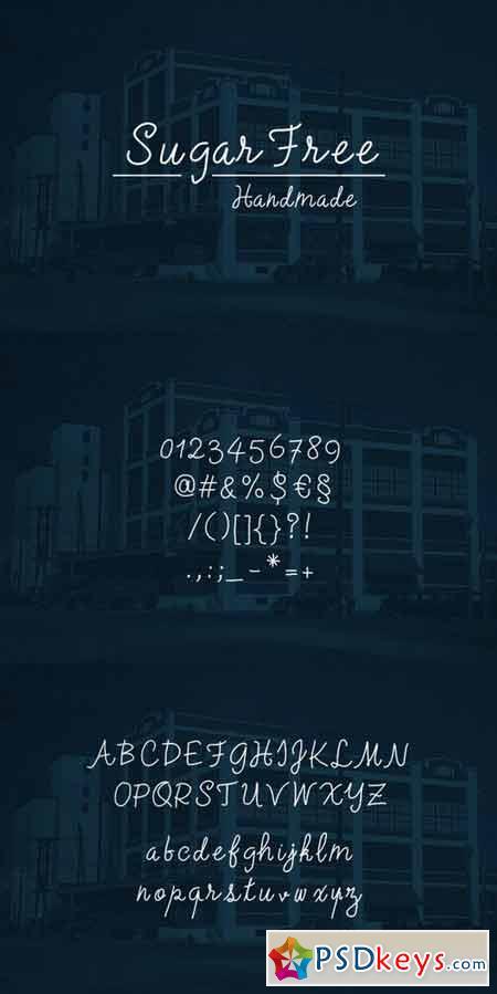 SugarFree Handmade typeface 83619