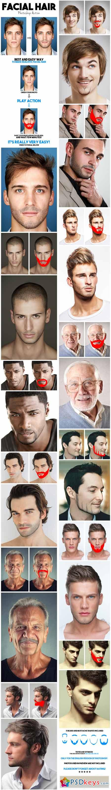 Facial Hair Photoshop Action 13434912 » Free Download