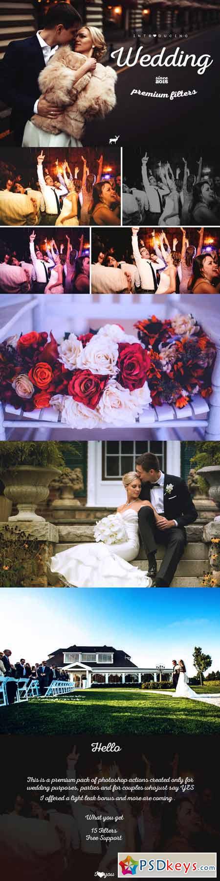 Wedding Premium Filters - PS Actions 417909