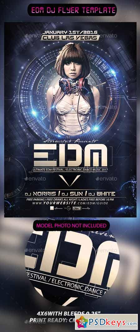 Edm Dj Flyer Template 13453336 Free Download Photoshop Vector