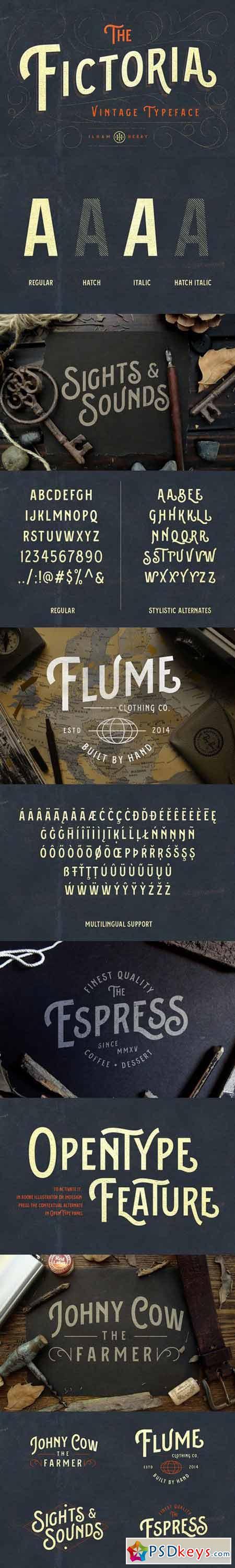 Fictoria Typeface 416320