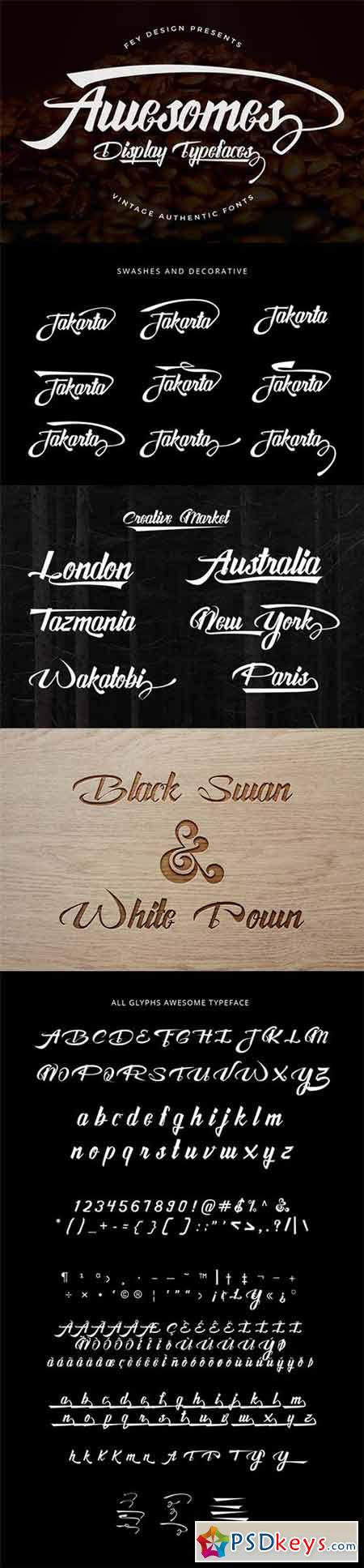 Awesome Display Typeface 337569
