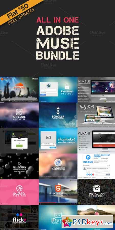 All in One - Adobe Muse Bundle 251582