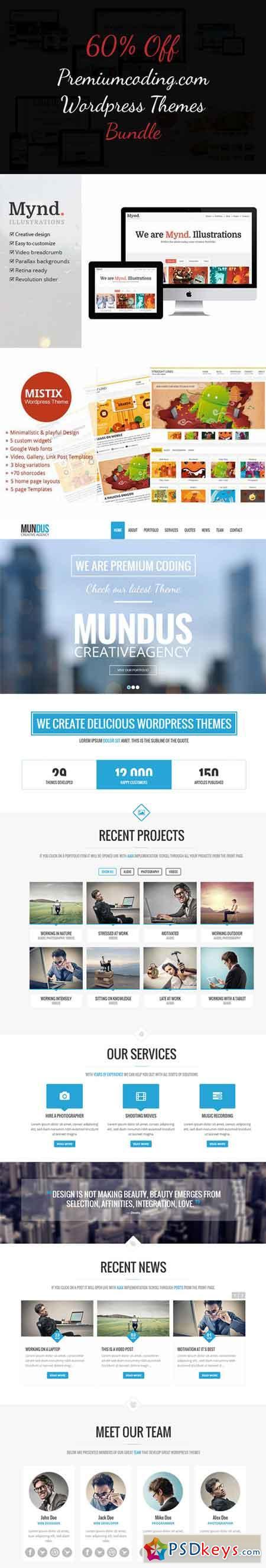 PMC Wordpress Themes Bundle 62927