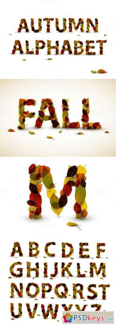 Autumn Leaf Alphabet 363070