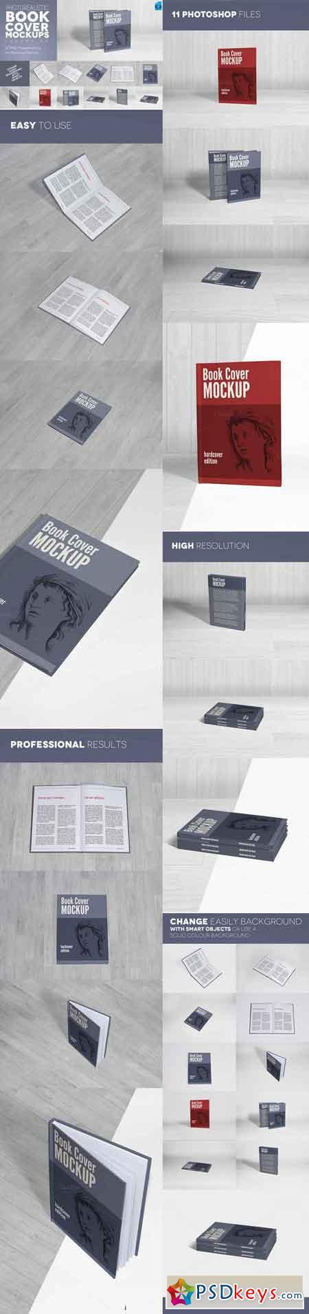 Book Cover Mockups v5 - Hardcover 418715