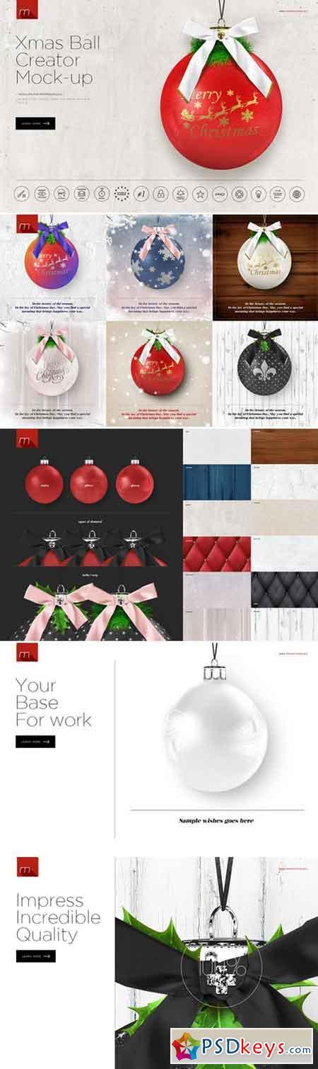 Christmas Ball Card Creator Mock-up 419885