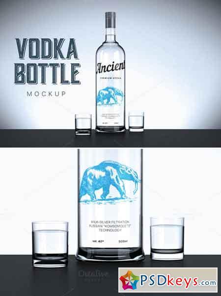 Vodka bottle mockup 420852