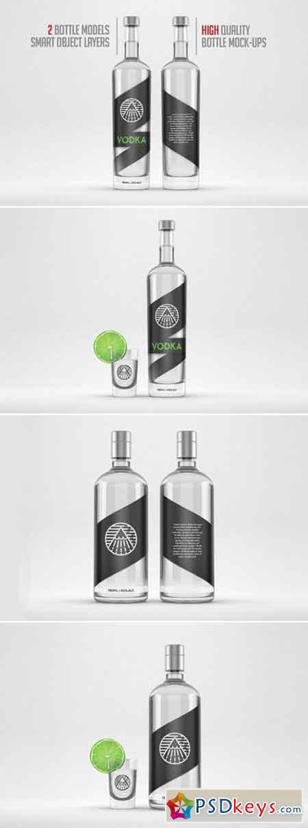 Distilled beverage bottle mockup 421026