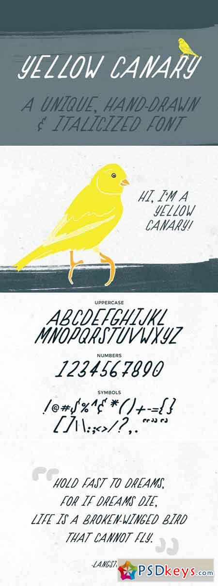 Yellow Canary Font 419961