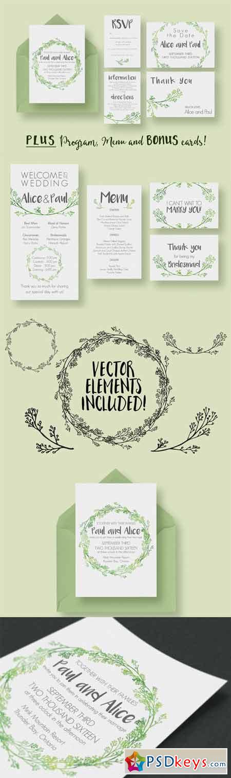Hip Wedding Invitation Suite 313959