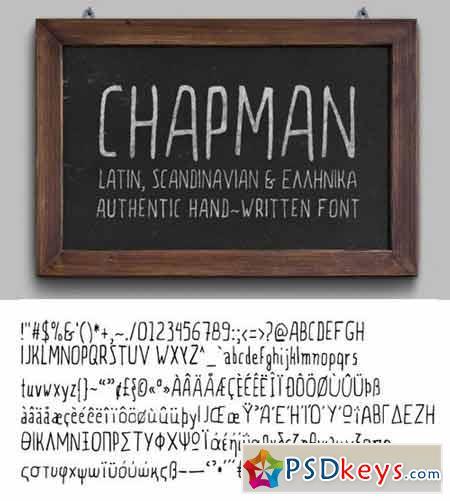 Chapman Handwritten Font 264002