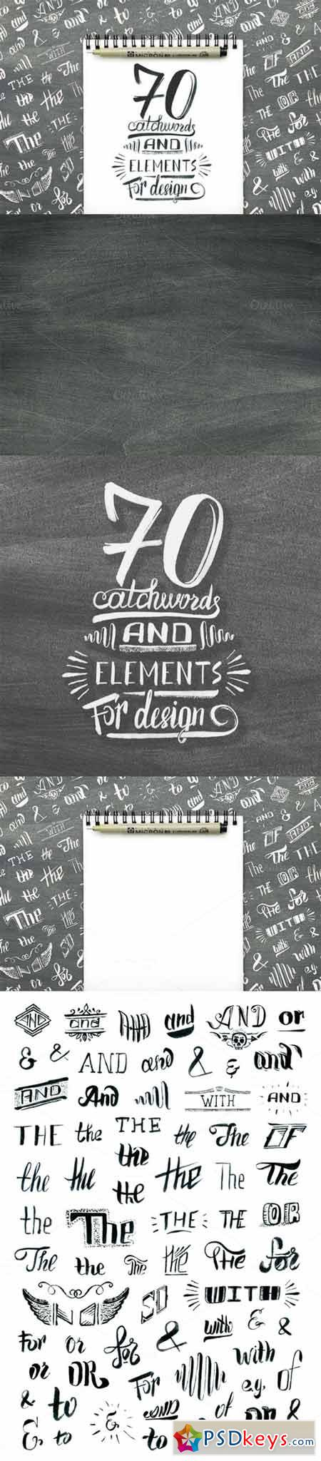 Handlettered catchwords and elements 361709