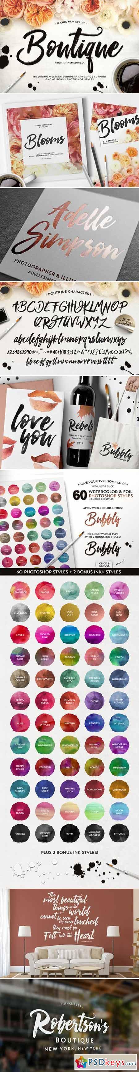 Boutique Script + PSD Styles 416551