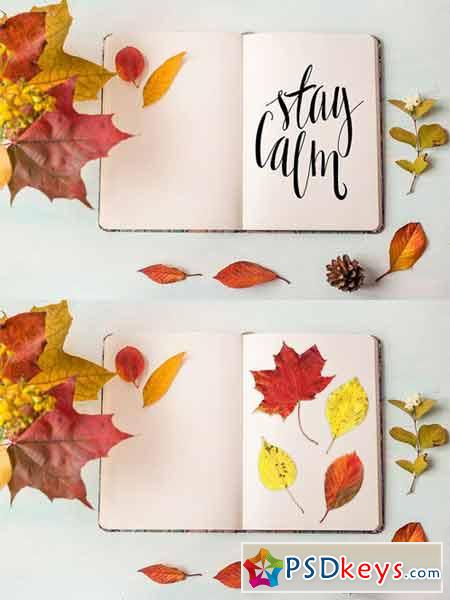 Rustic autumn mockup 369821