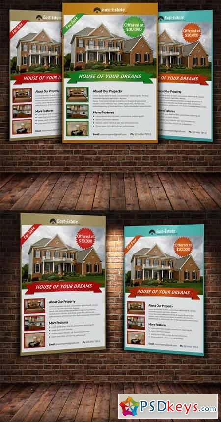Real Estate Flyer Template 222401 Free Download Photoshop Vector