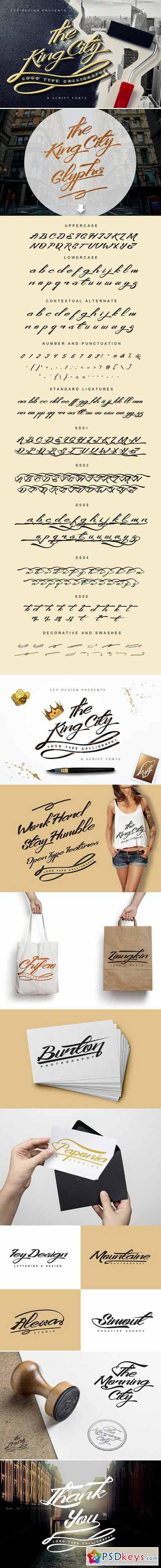 King City - Logo Type Calligraphy 419478