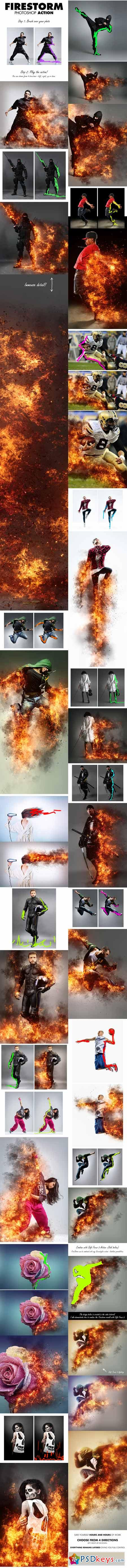 FireStorm Photoshop Action 13392199