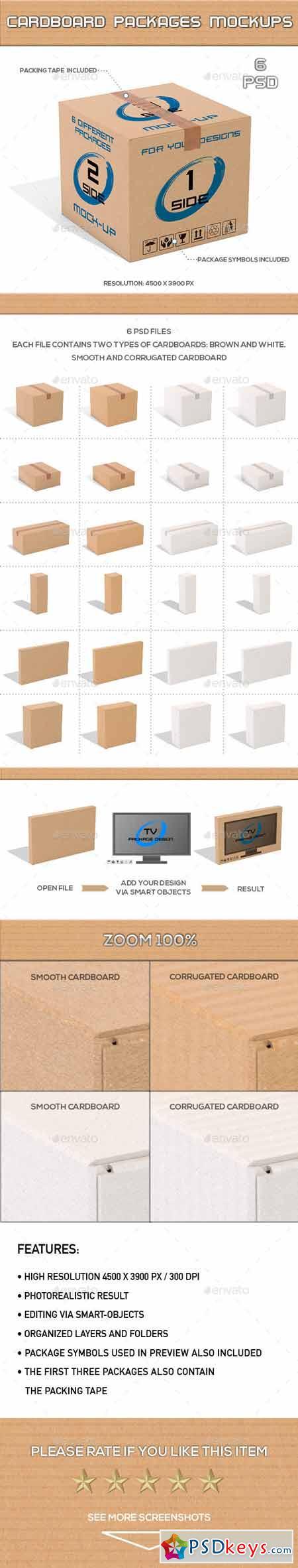 Cardboard Packages Mock-Up 13370724