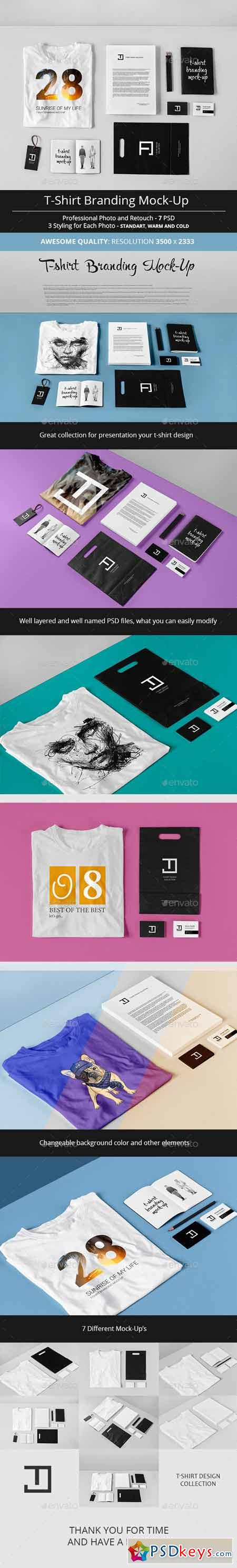 T-Shirt Branding Mock-Up 13177976