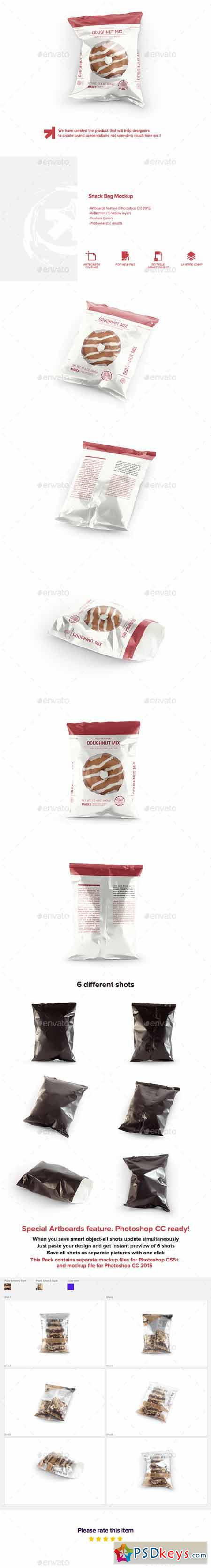 Snack Bag Pouch Mockup 13434996
