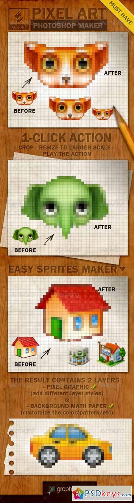Pixel Art Creator Photoshop Action 4069527