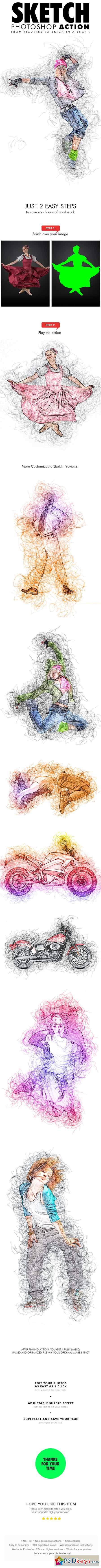 Sketch Photo Effect 13489246
