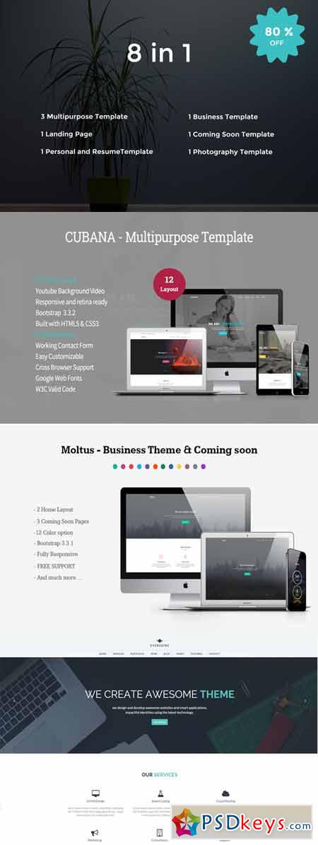 Bundle - Responsive HTML5 Templates 289936