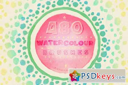 480 Watercolour Brushes Bundle 32305