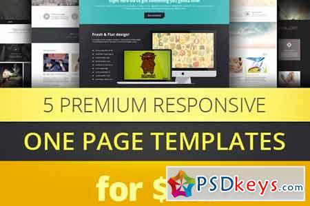 One Page Parallax Bootstrap Bundle 266042