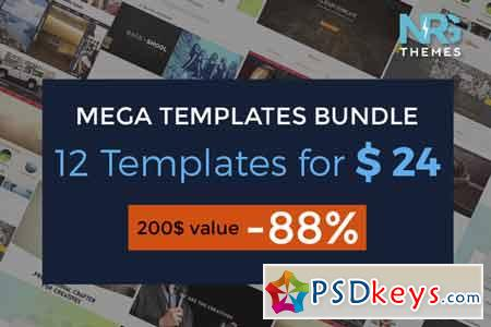 Mega Templates Bundle - 12 templates 296728