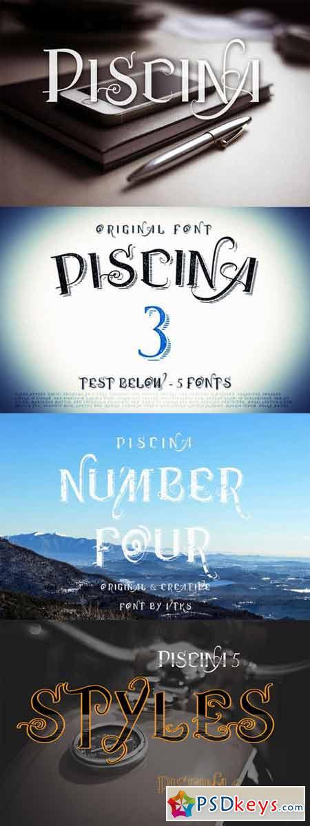 Piscina Vtks fonts ( 5 fonts ) 57213