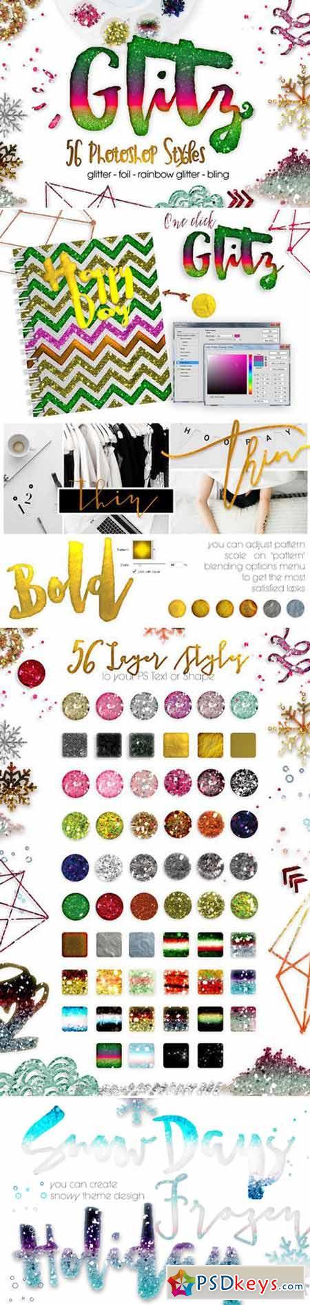 Glitz, 56 Photoshop Styles 421554