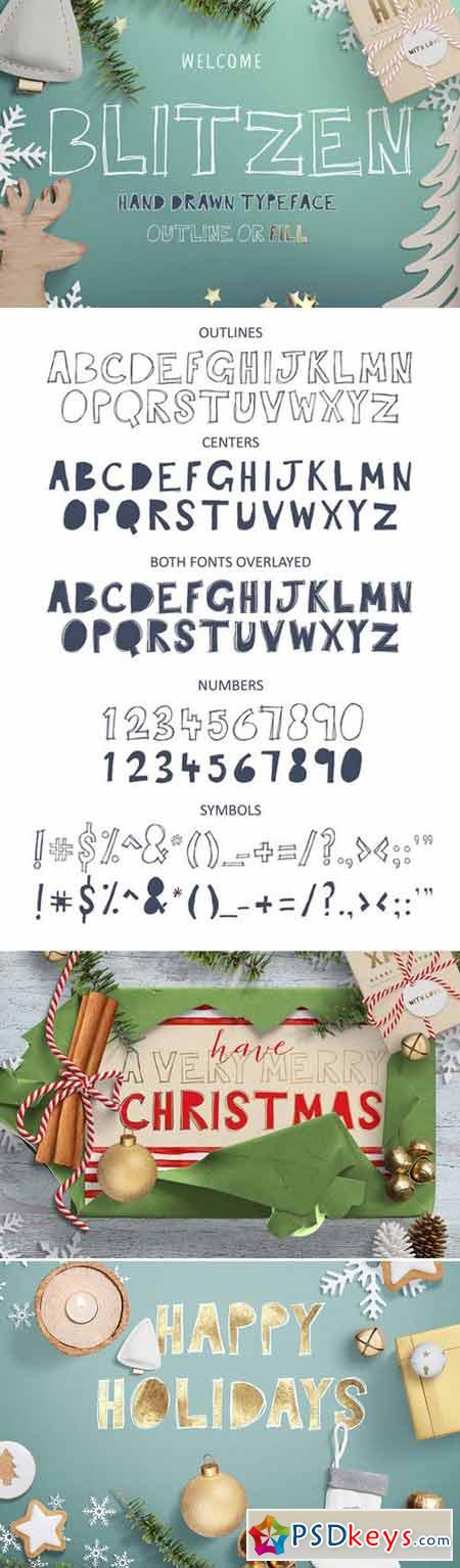 Blitzen Display Font 421463