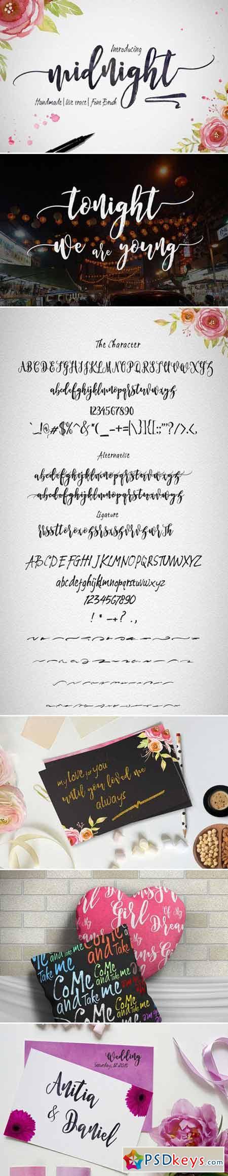Midnight Script Fonts 418808