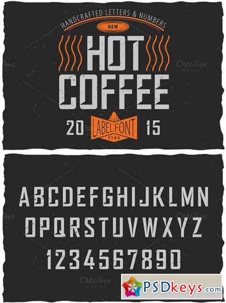 Hot Coffee Label Font 423023