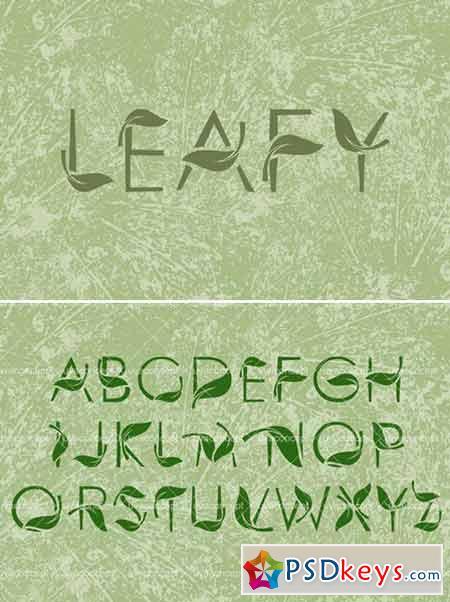 LEAFY art font 421855