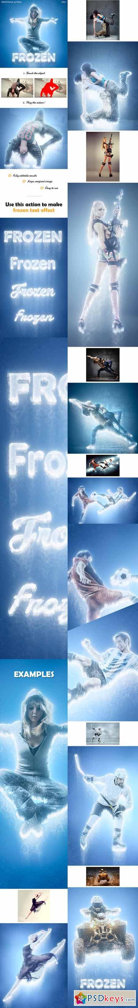 Frozen - Ice Photoshop action 13499885