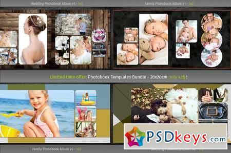 4x Photobook Templates Bundle