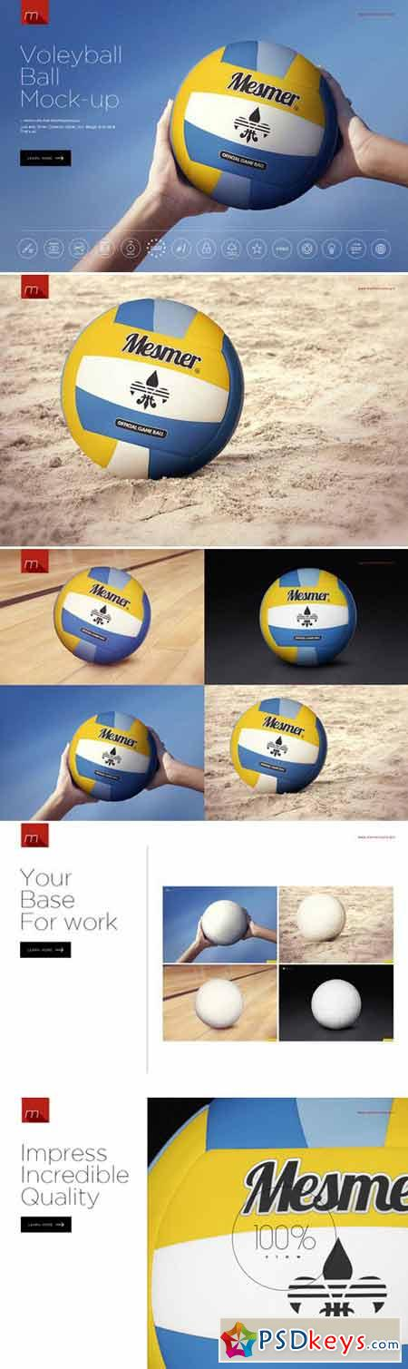 Volleyball Ball Mock-up 424043